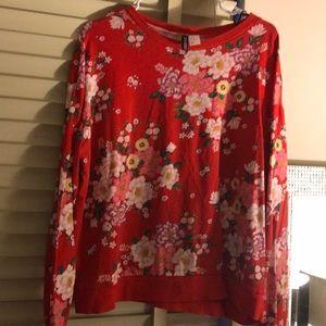 H&M Floral lightweight Sweat Shirt